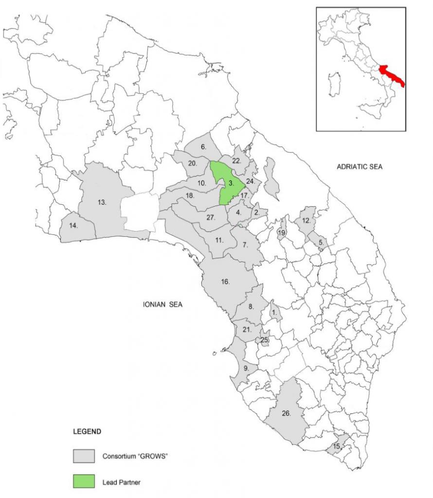 Cartina Puglia Cellino San Marco.The Partnership Grows